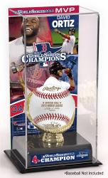 David Ortiz Boston Red Sox 2013 MLB World Series Champions MVP Gold Glove Baseball Display Case - Mounted Memories