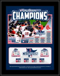 Boston Red Sox 2013 World Series Champions Sublimated 10.5x13 Plaque