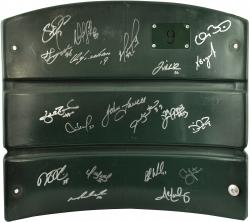 Boston Red Sox 2013 World Series Champions Team Autographed Fenway Park Seatback with 20 Signatures