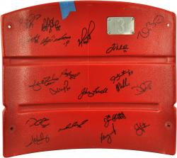 Boston Red Sox 2013 World Series Champions Team Autographed Fenway Park Red Seatback with 20 Signatures