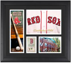 "Boston Red Sox Team Logo Framed 15"" x 17"" Collage with Piece of Game-Used Ball"
