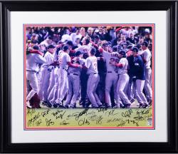 Framed Boston Red Sox Autographed '13 World Series 20x24 Photo - 20 Signatures