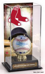 Boston Red Sox Game-Used Baseball and Sublimated Display Case