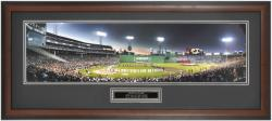Boston Red Sox All-Century Players at 1999 All-Star Game Framed Unsigned Panoramic Photograph with Suede Matte