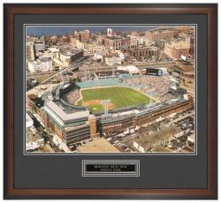 Boston Red Sox Aerial Framed Unsigned Panoramic Photograph with Suede Matte - Mounted Memories