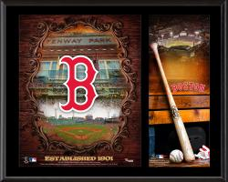 Boston Red Sox Sublimated 12'' x 15'' Team Logo Plaque - Mounted Memories