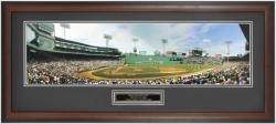 "Boston Red Sox ""The Green Monster"" Framed Unsigned Panoramic Photograph with Suede Matte - Mounted Memories"