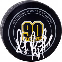 BOURQUE, RAY AUTO (BRUINS 90TH ANNIVERSARY) HOCKEY PUCK - Mounted Memories