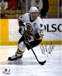 "Ray Bourque Boston Bruins Autographed 16"" x 20"" White Vertical Skating Photograph"