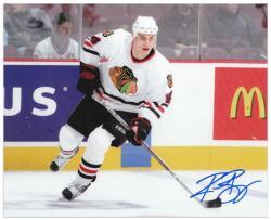 """Chicago Blackhawks Rene Bourque Autographed 8"""" x 10"""" Photo"""