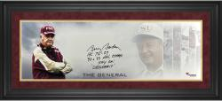 Bobby Bowden Florida State Seminoles Framed Autographed 10'' x 30'' The General Photograph with Multiple Inscription-Limited Edition of 12 - Mounted Memories