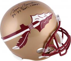 Bobby Bowden Florida State Seminoles Autographed Riddell Gold Replica Helmet with 93 & 99 Nat'l Champ Inscription