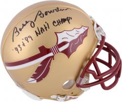 Fanatics Authentic Autographed Bobby Bowden Florida State Seminoles Riddell Mini Helmet with 93 & 99 Nat'l Champs Inscription