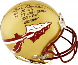 Bobby Bowden Florida State Seminoles Autographed Riddell Pro-Line Authentic Helmet with Multiple Inscriptions-Limited Edition of 6 - Mounted Memories