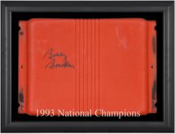 Bobby Bowden Florida State Seminoles Autographed Orange Bowl Stadium Seat with Black Framed Shadowbox - Mounted Memories