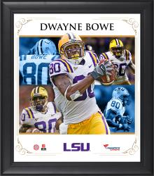 DWAYNE BOWE FRAMED (LSU) CORE COMPOSITE - Mounted Memories