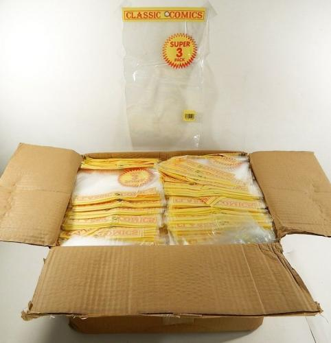 "Box of (4000) Clear Plastic 7.5"" x 11.5"" Storage Bags For Retail Use Comic Books"