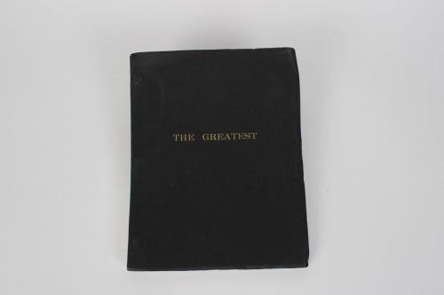 "Boxing Great – Muhammad Ali Signed Autographed Script For ""The Greatest"" Film Movie (1977) Feat. Lengthy Inscription ""The Greatest of All Times After Me There Will Not Be ANOTHER 9- 5- 90"""