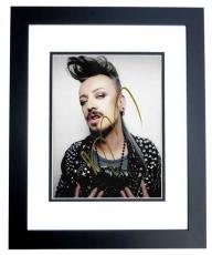 Boy George Signed - Autographed Culture Club 8x10 inch Photo BLACK CUSTOM FRAME - Guaranteed to pass PSA or JSA