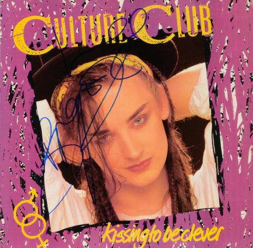 Boy George Autographed Culture Club Kissing to be Clever Album Cover - PSA/DNA COA