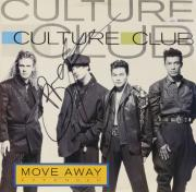 Boy George Autographed Culture Club Move Away Album Cover - PSA/DNA COA