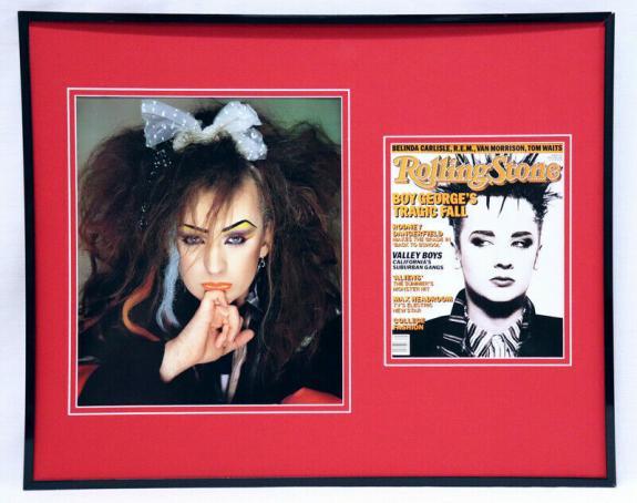 Boy George Culture Club 16x20 Framed Rolling Stone Cover Display