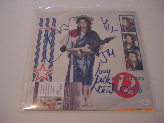 Boy George Culture Club 4 Autos Its A Miracle Jsa/holo Signed Lp Record Album