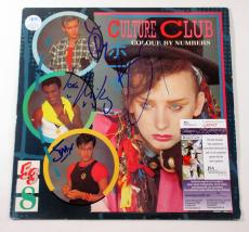 Boy George & Culture Club Signed LP Record Album Colour By Numbers 4 JSA AUTO
