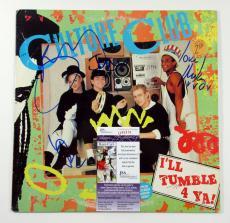 Boy George & Culture Club Signed LP Record Album I'll Tumble For Ya 4 JSA AUTO