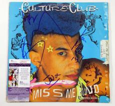 Boy George & Culture Club Signed LP Record Album Miss Me Blind 4 JSA AUTO