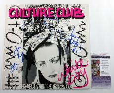 Boy George & Culture Club Signed LP Record Album White Boy w/ 4 JSA AUTOS