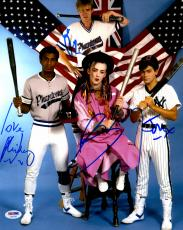 "Boy George, Roy Hay, Mikey Craig, & Jon Moss Autographed 11""x 14"" Culture Club Posing With Baseball Bats Photograph- PSA/DNA LOA"