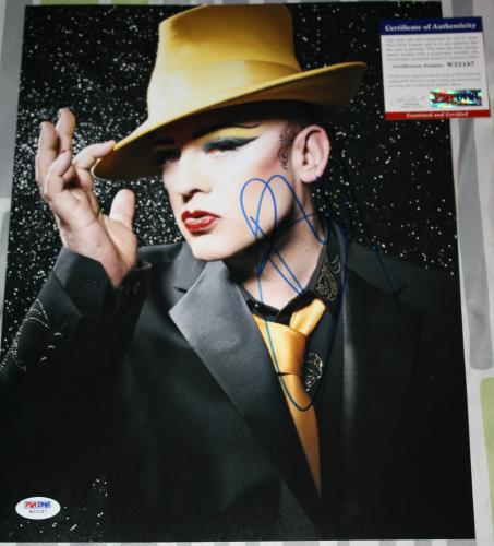 Boy George signed 11 x 14, Culture Club, Karma Chameleon, Time, PSA/DNA, COA