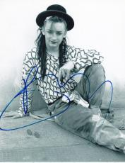 Boy George Signed 8x10 Photo Culture Club Authentic Autograph Coa