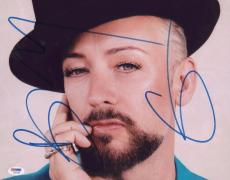 Boy George Signed Authentic Photo 11x14 Psa/dna Z66786