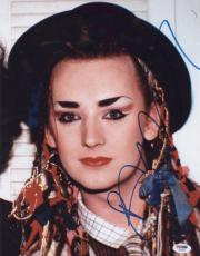 Boy George Signed Authentic Photo 11x14 Psa/dna Z66952