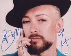 Boy George Signed Authentic Photo 11x14 Psa/dna Z71136