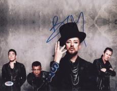 Boy George Signed Authentic Photo 11x14 Psa/dna Z71167