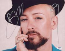 Boy George Signed Authentic Photo 11x14 Psa/dna Z71221