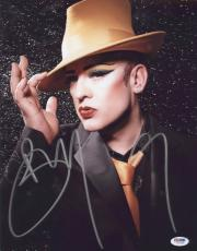 Boy George Signed Authentic Photo 11x14 Psa/dna Z71235