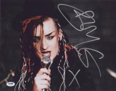 Boy George Signed Authentic Photo 11x14 Psa/dna Z71321