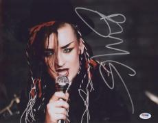 Boy George Signed Authentic Photo 11x14 Psa/dna Z71349