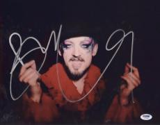 Boy George Signed Authentic Photo 11x14 Psa/dna Z71607