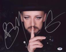Boy George Signed Authentic Photo 11x14 Psa/dna Z71621