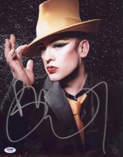 Boy George Signed Authentic Photo 11x14 Psa/dna Z71624