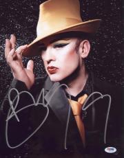 Boy George Signed Authentic Photo 11x14 Psa/dna Z71765