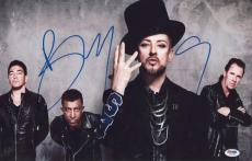 Boy George Signed Authentic Photo 12x18 Psa/dna Z71382