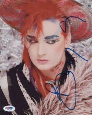 Boy George Signed Authentic Photo 8x10 Psa/dna Z71936