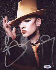 Boy George Signed Authentic Photo 8x10 Psa/dna Z71956