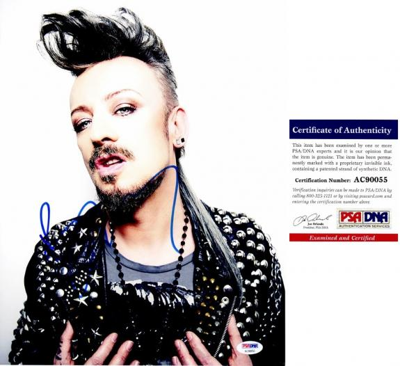 Boy George Signed - Autographed Culture Club 11x14 inch Photo with PSA/DNA Certificate of Authenticity (COA)